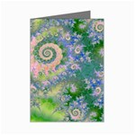 Rose Apple Green Dreams, Abstract Water Garden Mini Greeting Card