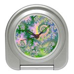 Rose Apple Green Dreams, Abstract Water Garden Desk Alarm Clock