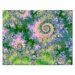 Rose Apple Green Dreams, Abstract Water Garden Jigsaw Puzzle (Rectangle)