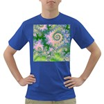 Rose Apple Green Dreams, Abstract Water Garden Men s T-shirt (Colored)