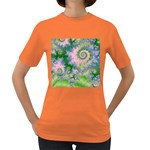 Rose Apple Green Dreams, Abstract Water Garden Women s T-shirt (Colored)