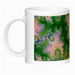 Rose Apple Green Dreams, Abstract Water Garden Glow in the Dark Mug