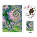 Rose Apple Green Dreams, Abstract Water Garden Playing Cards Single Design