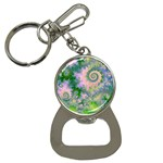 Rose Apple Green Dreams, Abstract Water Garden Bottle Opener Key Chain