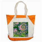 Rose Apple Green Dreams, Abstract Water Garden Accent Tote Bag