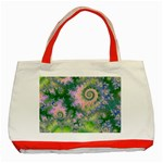 Rose Apple Green Dreams, Abstract Water Garden Classic Tote Bag (Red)