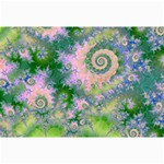 Rose Apple Green Dreams, Abstract Water Garden Canvas 12  x 18  (Unframed)