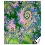 Rose Apple Green Dreams, Abstract Water Garden Canvas 20  x 24  (Unframed)