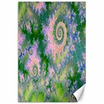 Rose Apple Green Dreams, Abstract Water Garden Canvas 24  x 36  (Unframed)