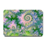 Rose Apple Green Dreams, Abstract Water Garden Small Door Mat