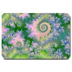 Rose Apple Green Dreams, Abstract Water Garden Large Door Mat