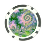Rose Apple Green Dreams, Abstract Water Garden Poker Chip
