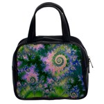 Rose Apple Green Dreams, Abstract Water Garden Classic Handbag (Two Sides)