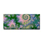 Rose Apple Green Dreams, Abstract Water Garden Hand Towel