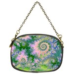 Rose Apple Green Dreams, Abstract Water Garden Chain Purse (Two Sided)