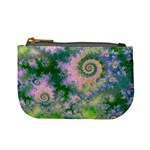 Rose Apple Green Dreams, Abstract Water Garden Coin Change Purse