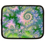 Rose Apple Green Dreams, Abstract Water Garden Netbook Sleeve (XL)