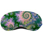Rose Apple Green Dreams, Abstract Water Garden Sleeping Mask