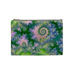 Rose Apple Green Dreams, Abstract Water Garden Cosmetic Bag (Medium)