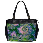 Rose Apple Green Dreams, Abstract Water Garden Oversize Office Handbag (One Side)