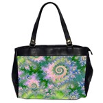 Rose Apple Green Dreams, Abstract Water Garden Oversize Office Handbag (Two Sides)