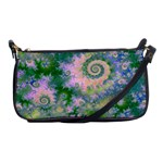 Rose Apple Green Dreams, Abstract Water Garden Evening Bag
