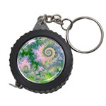 Rose Apple Green Dreams, Abstract Water Garden Measuring Tape