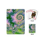 Rose Apple Green Dreams, Abstract Water Garden Playing Cards (Mini)