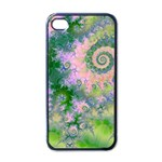 Rose Apple Green Dreams, Abstract Water Garden Apple iPhone 4 Case (Black)