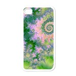 Rose Apple Green Dreams, Abstract Water Garden Apple iPhone 4 Case (White)