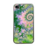 Rose Apple Green Dreams, Abstract Water Garden Apple iPhone 4 Case (Clear)