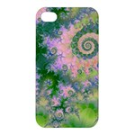 Rose Apple Green Dreams, Abstract Water Garden Apple iPhone 4/4S Premium Hardshell Case