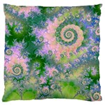 Rose Apple Green Dreams, Abstract Water Garden Large Cushion Case (Single Sided)