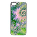 Rose Apple Green Dreams, Abstract Water Garden Apple iPhone 5 Case (Silver)
