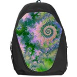 Rose Apple Green Dreams, Abstract Water Garden Backpack Bag