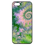 Rose Apple Green Dreams, Abstract Water Garden Apple iPhone 5 Seamless Case (Black)