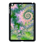 Rose Apple Green Dreams, Abstract Water Garden Apple iPad Mini Case (Black)