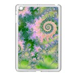 Rose Apple Green Dreams, Abstract Water Garden Apple iPad Mini Case (White)