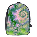 Rose Apple Green Dreams, Abstract Water Garden School Bag (XL)