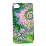 Rose Apple Green Dreams, Abstract Water Garden Apple iPhone 4/4S Hardshell Case with Stand