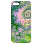 Rose Apple Green Dreams, Abstract Water Garden Apple iPhone 5 Hardshell Case with Stand