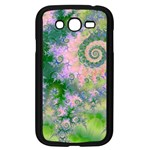 Rose Apple Green Dreams, Abstract Water Garden Samsung Galaxy Grand DUOS I9082 Case (Black)