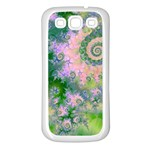 Rose Apple Green Dreams, Abstract Water Garden Samsung Galaxy S3 Back Case (White)