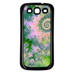 Rose Apple Green Dreams, Abstract Water Garden Samsung Galaxy S3 Back Case (Black)