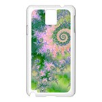 Rose Apple Green Dreams, Abstract Water Garden Samsung Galaxy Note 3 N9005 Case (White)