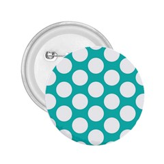 Turquoise Polkadot Pattern 2 25  Button by Zandiepants