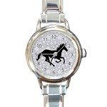 Unicorn on Starry Background Round Italian Charm Watch