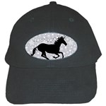 Unicorn on Starry Background Black Baseball Cap