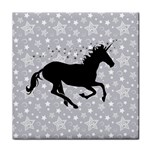 Unicorn on Starry Background Ceramic Tile