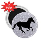 Unicorn on Starry Background 2.25  Button Magnet (10 pack)